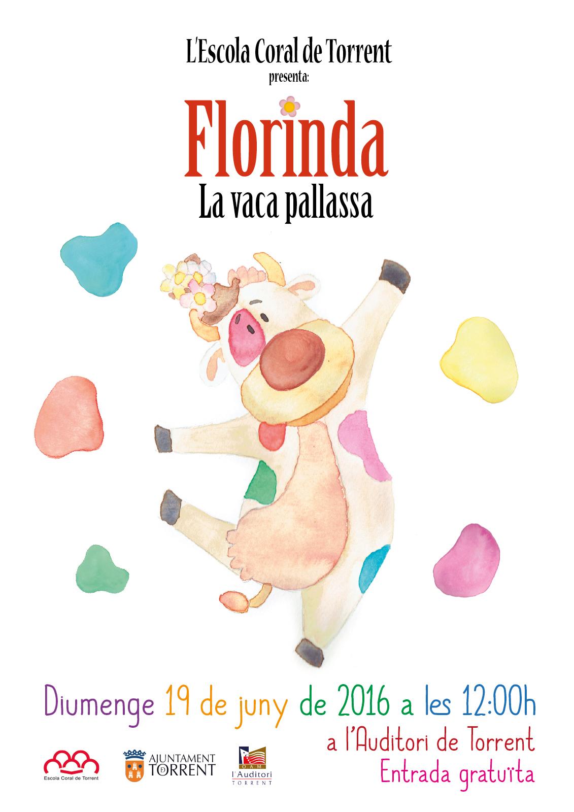 Cartel concierto La Vaca Florinda de la Escola Coral de Torrent